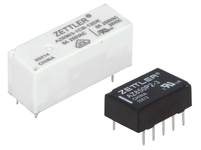 New miniature relays from ZETTLER | Electronic components