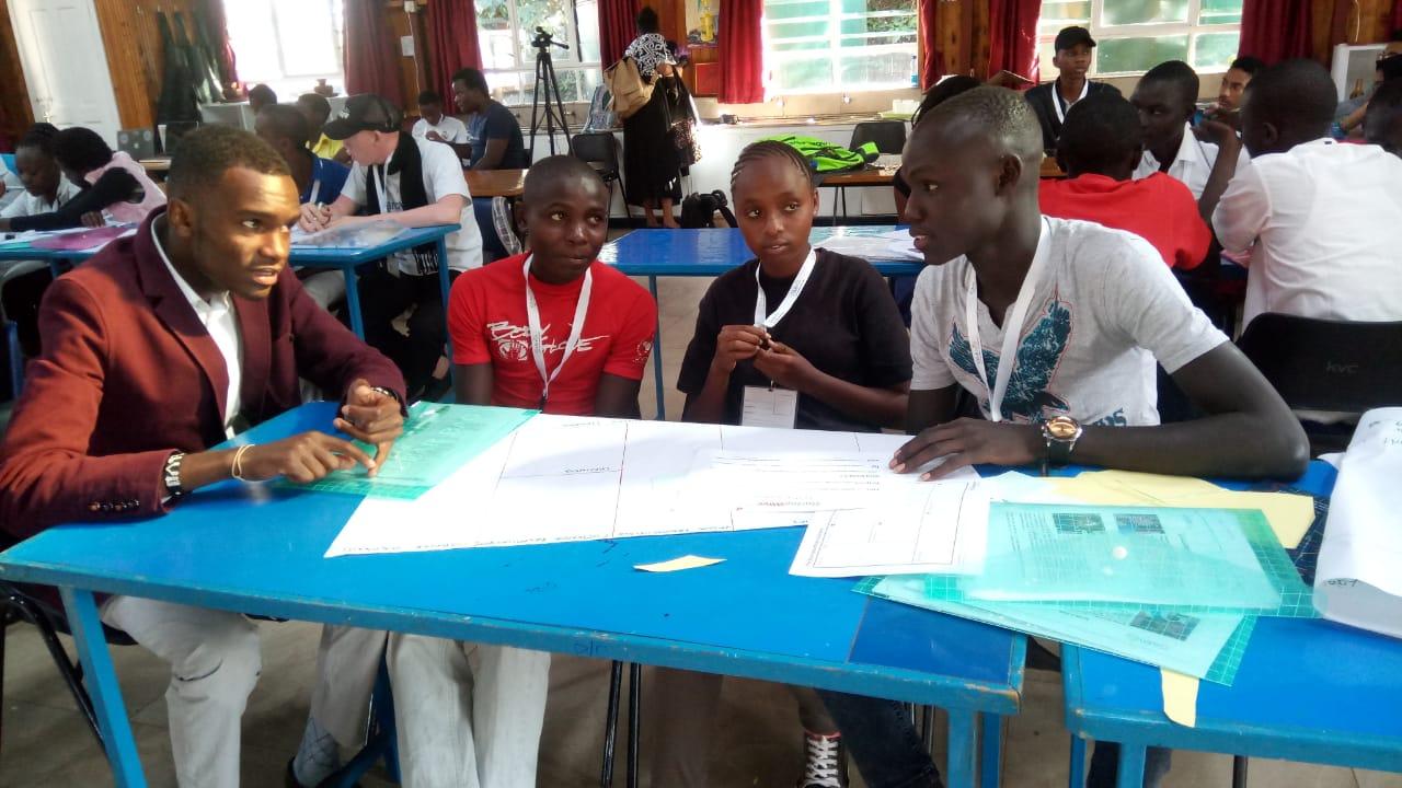 TME Education Ambassador mentoring Young Innovators in Kenya