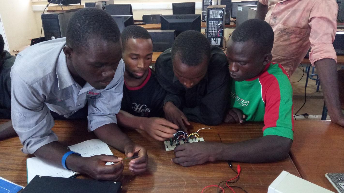 TME Education training at Jinja Vocational Training Institute, Uganda.