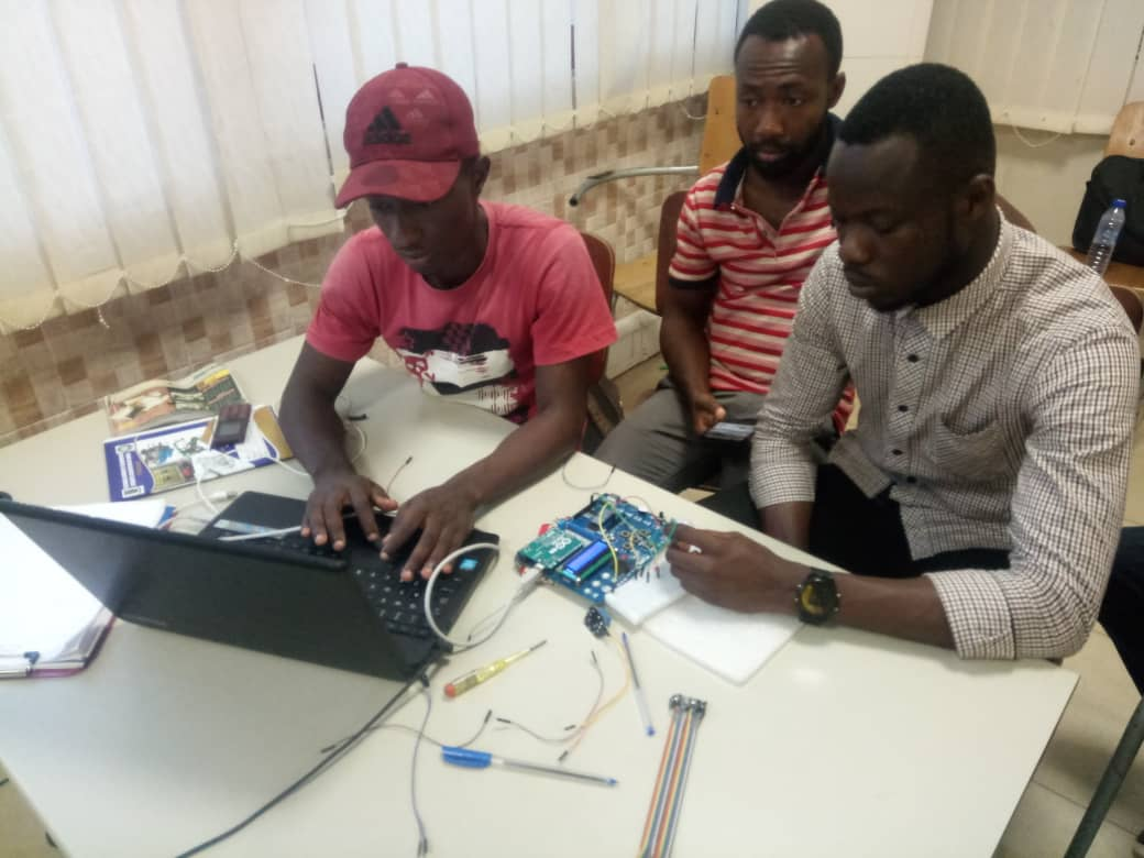 Intensive training at IoT Network Hub by TME Education Ghana.