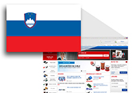 Slovenian page on the occasion of the anniversary of TME - it is the 25th flags