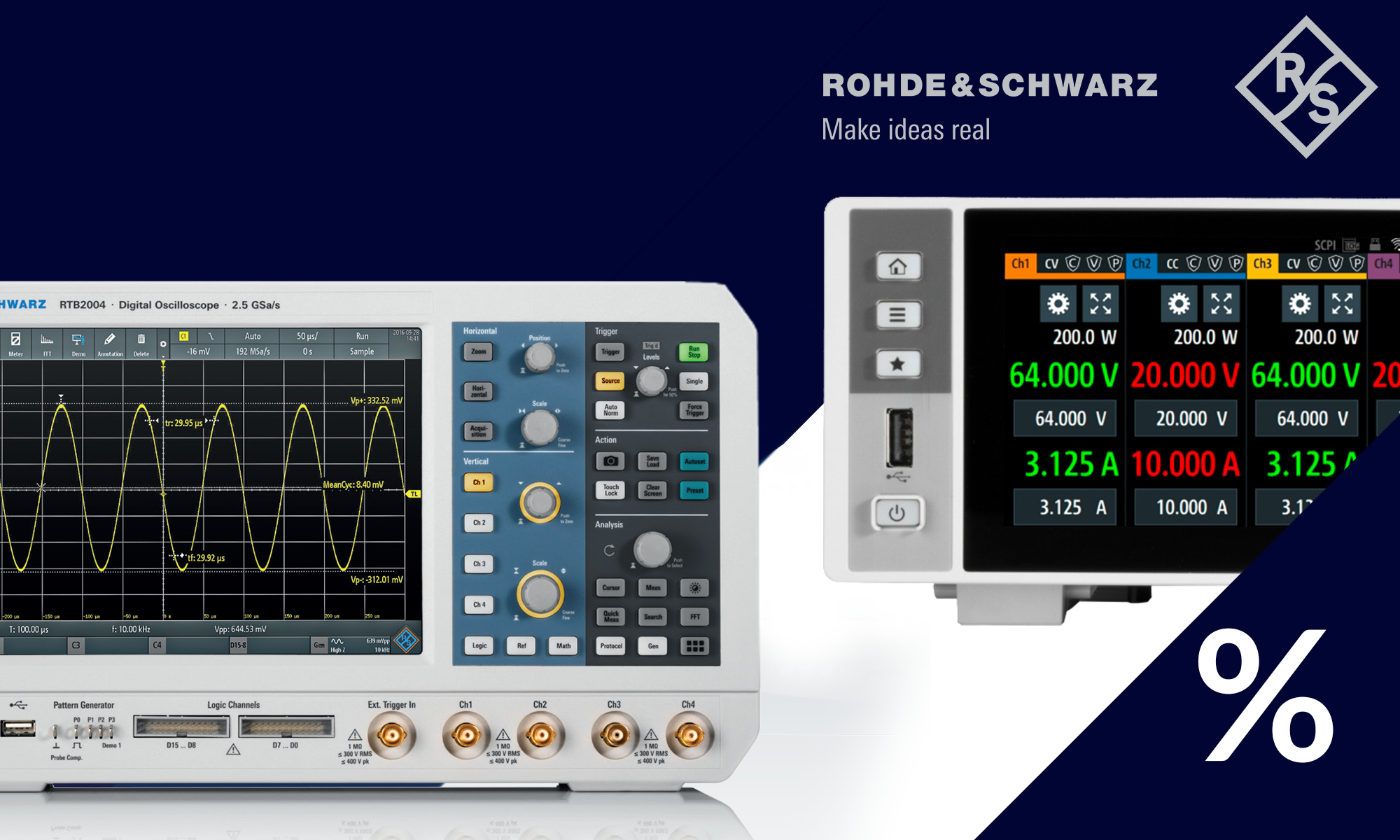Packs promotionnels Rohde & Schwarz dans l'offre de TME