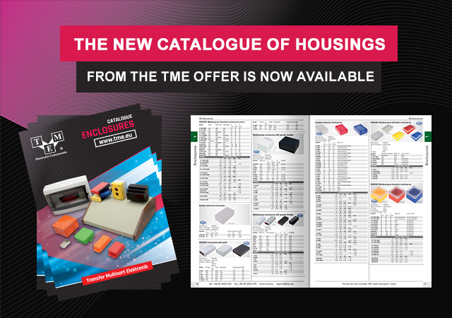 The new catalogue of housings from the TME offer is now available