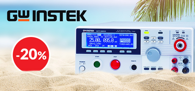 Summer holiday discount on GW Instek safety testers