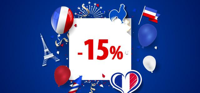 Une grande réduction pour la Fête Nationale de la République Française