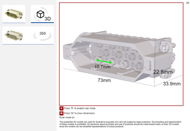 Modele 3D w katalogu TME