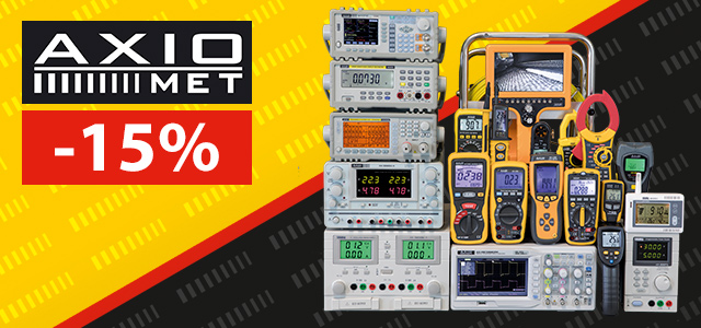 This summer AXIOMET products up to 15% off!