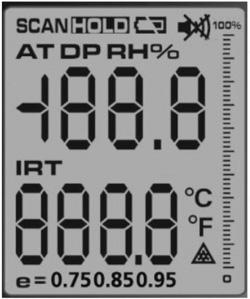 Pirometro AX-7600 con misurazione del punto di rugiada