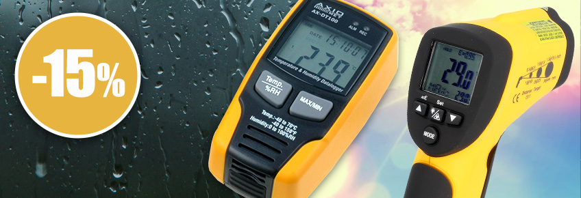 Only on 01-31.03, temperature, humidity and CO2 meters up to 15% cheaper!