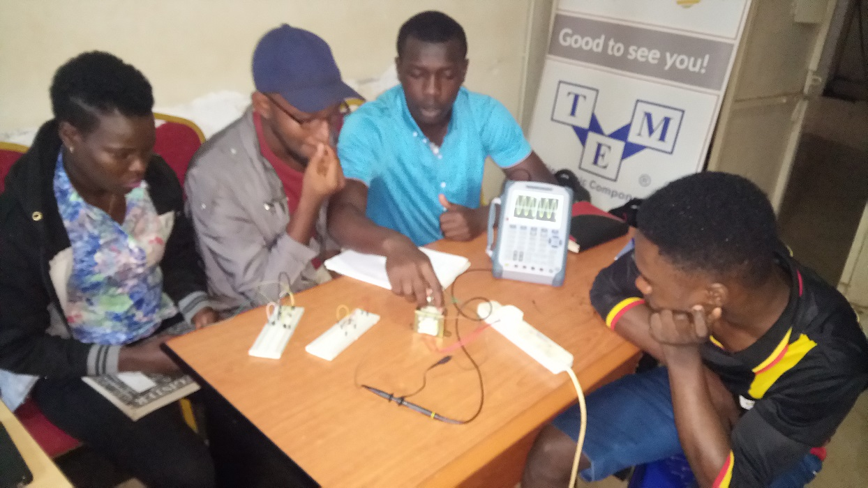 June Industrial Training by TME Education ambassador, Patrick Ssonko, in Kampala, Uganda.