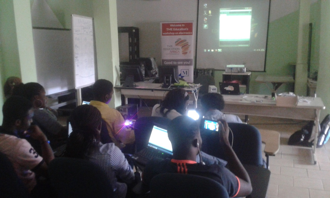 TME Education trainind at NextGen, Cameroon.