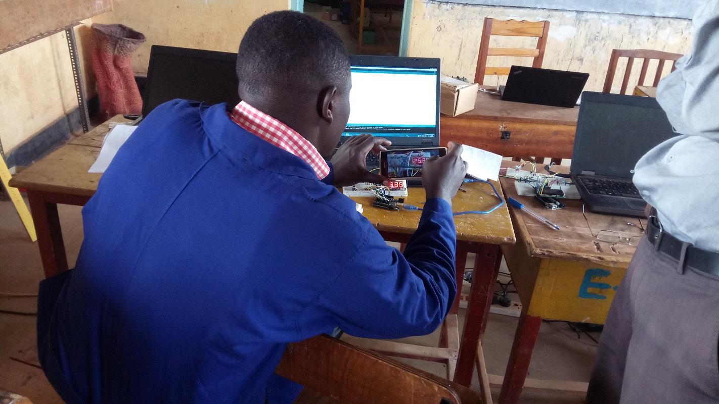 TME Education training at St. Joseph's Technical Institute, Kisubi.