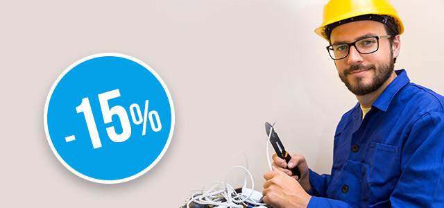 A gift on the occasion of Electrician's Day – up to 15% discount