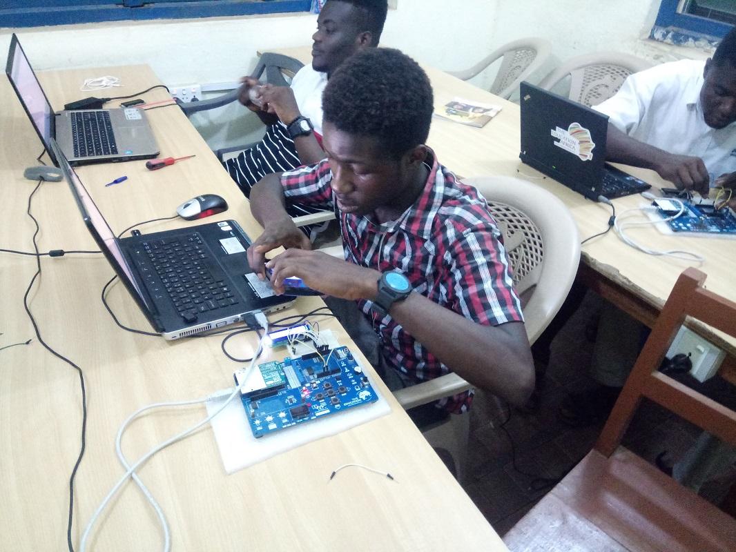 TME Education training at EMIT Electronics Institute, Ghana