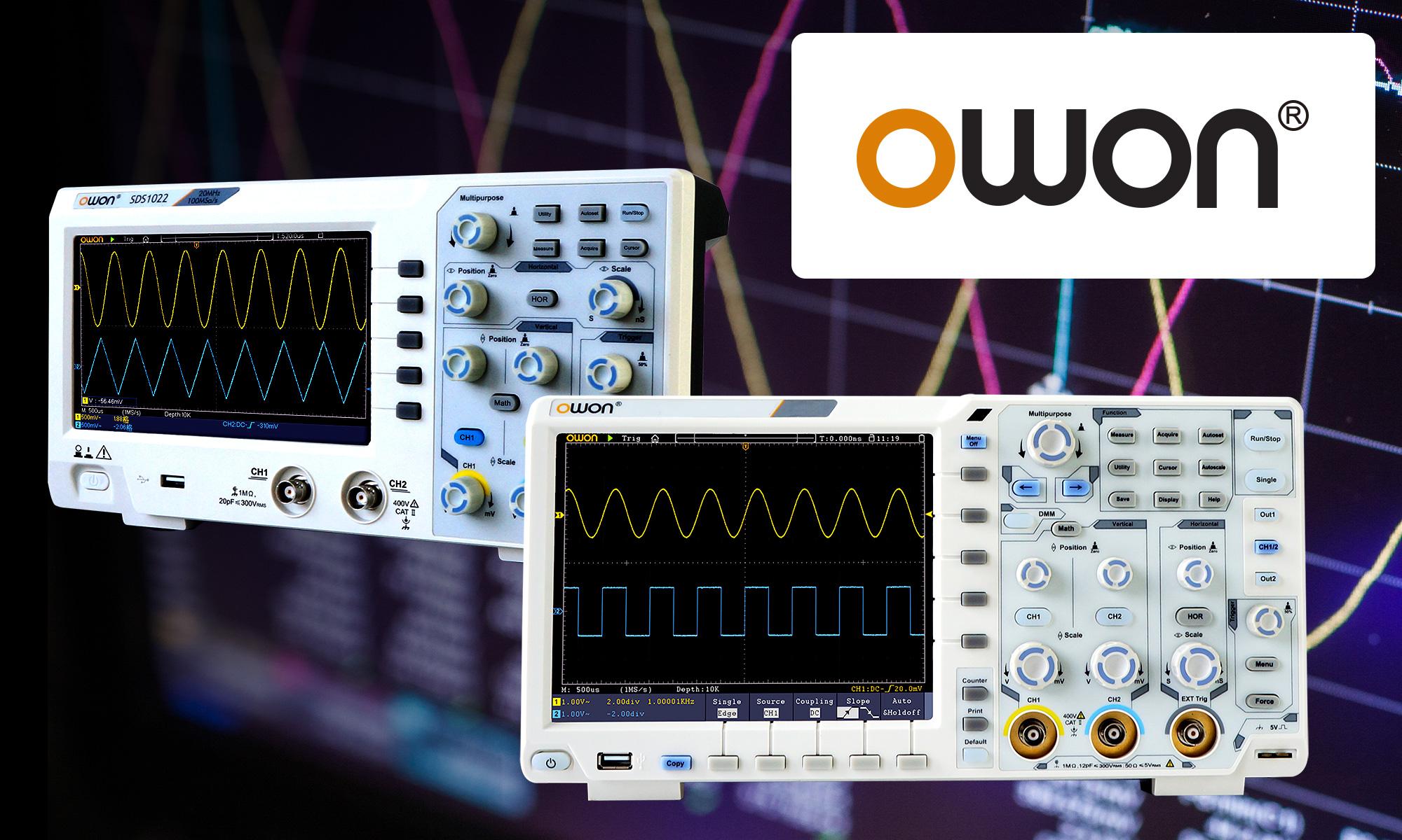 Цифрови осцилоскопи от марка OWON вече са достъпни в каталога на TME