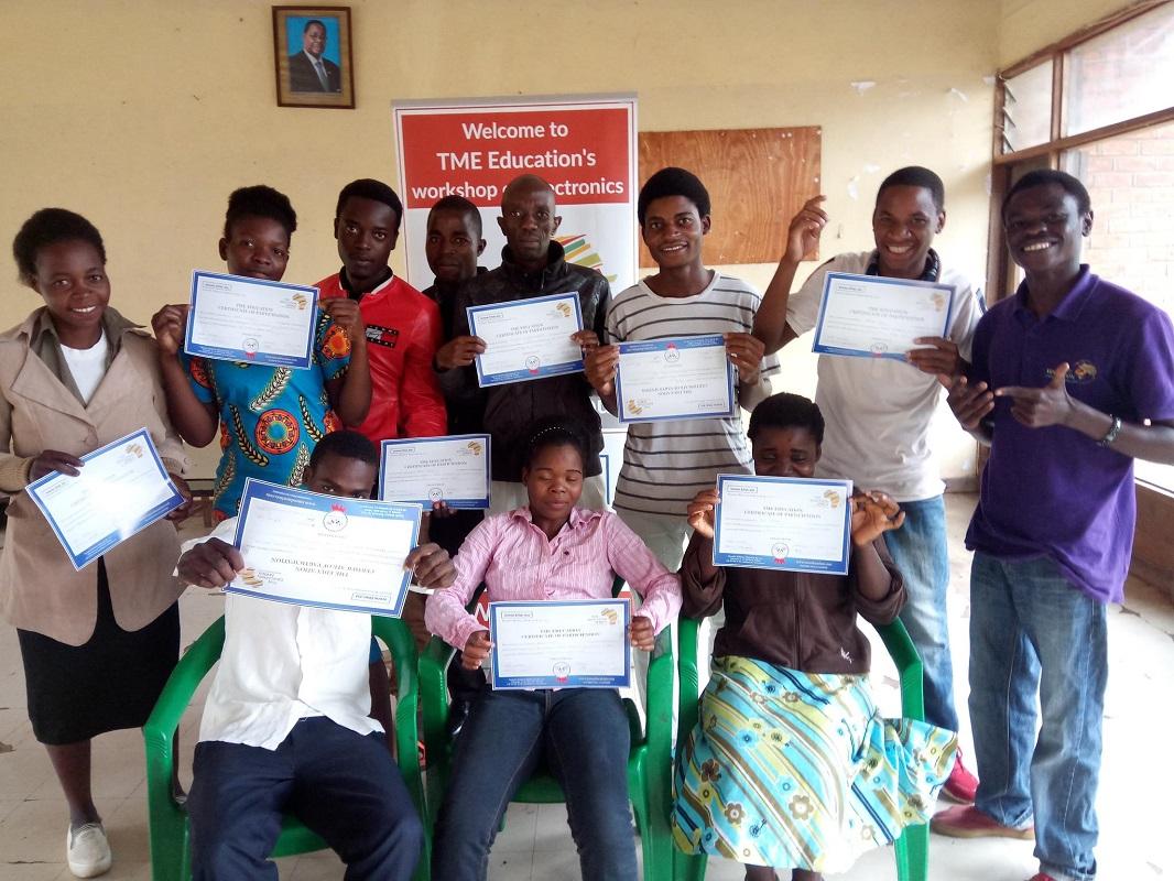 Training at  Kamuzu Vocational Rehabilitation and Training Center (Malawi)