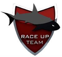 Il bolide del team Race Up sotto l'egida dell'azienda TME
