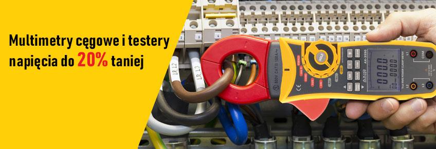 W listopadzie mierniki cęgowe i testery elektryczne Axiomet kupisz z rabatem do 20%