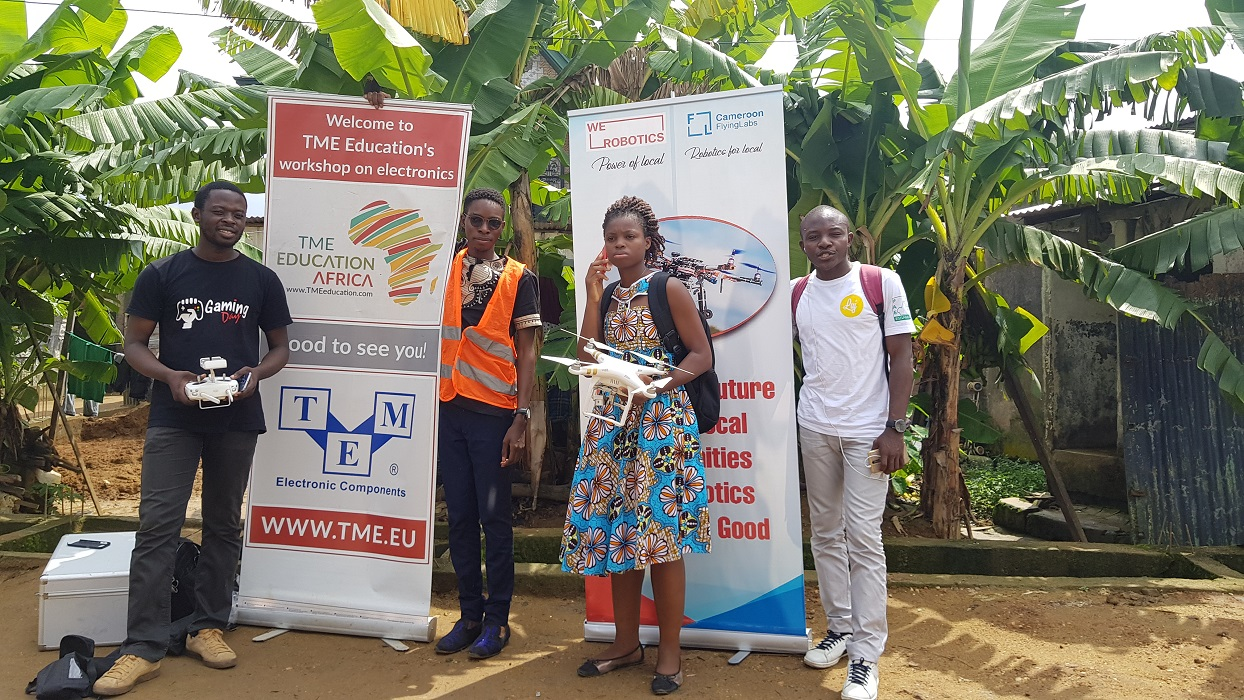 Project report: Flying Lab by Loic Dessap, TME Education Ambassador in Cameroon.