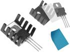 Thermoleitende Aufkleber auf TO220-Transistoren