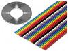 135-2801-010 | Vodič: plochý kabel; 1,27mm; licna; Cu; 10x28AWG; nestíněný; PVC