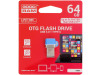 ODD3-0640B0R11 | Pendrive; USB 3.0; 64GB; Čtení: 35MB/s; Zápis: 10MB/s; Barva: modrá