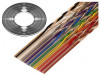132-2801-010 | Vodič: plochý kabel; 1,27mm; licna; Cu; 10x28AWG; nestíněný; PVC