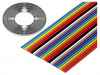135-2801-010 | Wire: ribbon; 1.27mm; stranded; Cu; 10x28AWG; unshielded; PVC; 300V