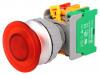 EBL30 1O/C R, W/O LAMP | Commutatore: a pulsante; Pos.stab: 1; NC + NO; 30mm; rosso; IP65