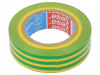 53988-00080-00 | Electrically insulated tape; PVC; W: 15mm; L: 10m; yellow-green