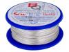 SCW-0.40/100 | Hopealla päällystetty kuparilanka; 0,4mm; 100g; 88m; -200÷800°C