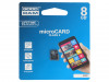 M400-0080R11 | Memory card; SD HC Micro; 8GB; Read: 15MB/s; Write: 4MB/s; Class 4