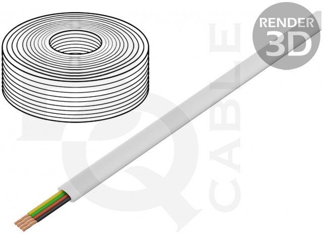 TEL-0032-100/WH BQ CABLE, Wire