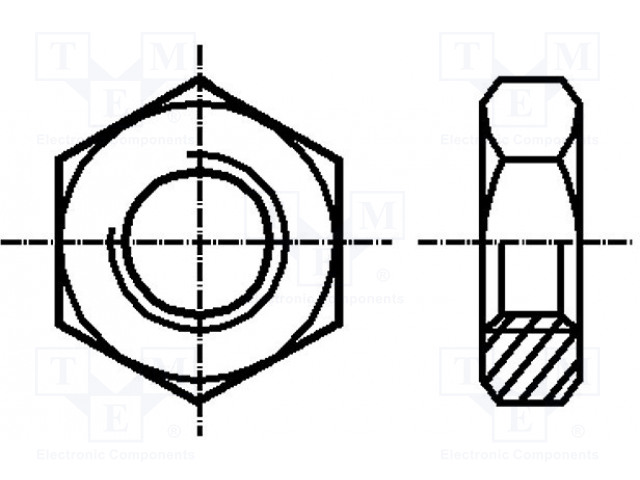 BOSSARD B8X1/BN1207 - Matice
