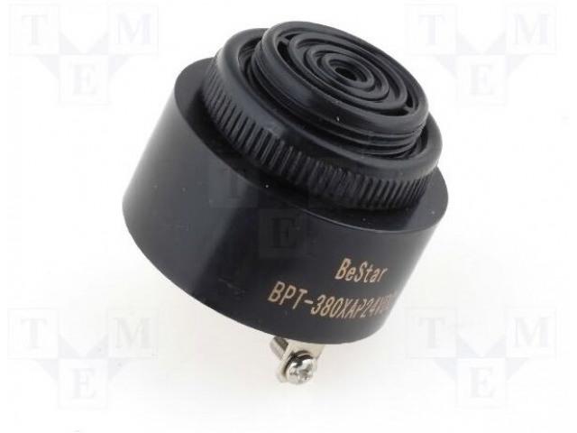 BESTAR BPT380XAP24VDC - Akustický měnič: piezoelektrický bzučák