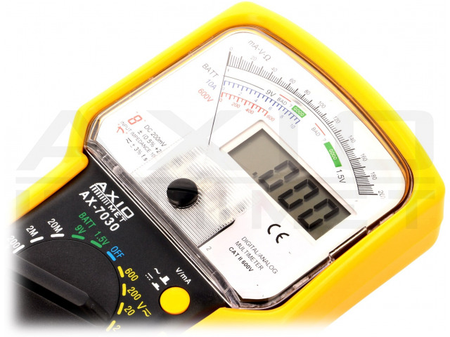 AX-7030 AXIOMET, Analog-digitaler Multimeter