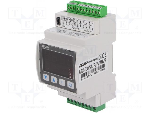 APAR AR663/S1/P/P/WA/P - Modul: dvoukanálový regulátor