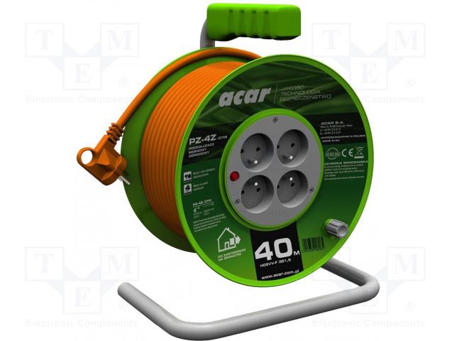 ACAR PZ-4Z/OT.3X1.5/40M.P - Prodlužovací síťový kabel