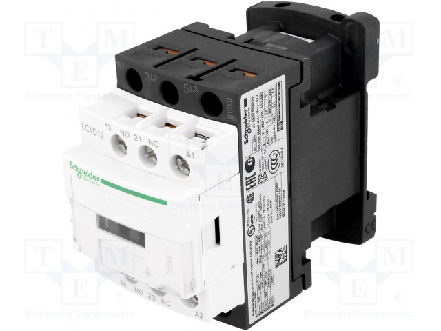 SCHNEIDER ELECTRIC LC1D12E7 - Contactor: 3-pole