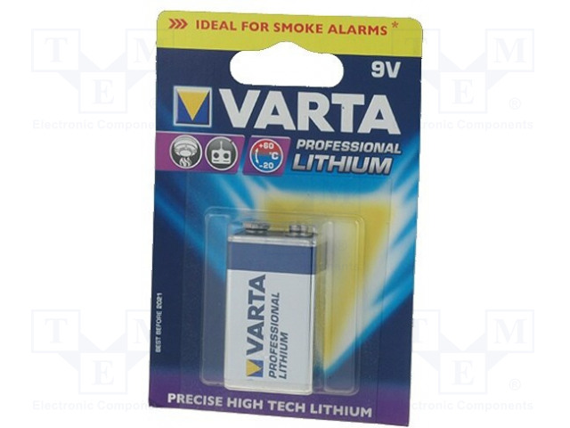 VARTA BAT-6F22/V - Baterie: lithiové