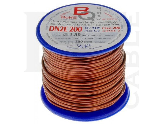 DN2E1.30/0.25 BQ CABLE, Coil wire
