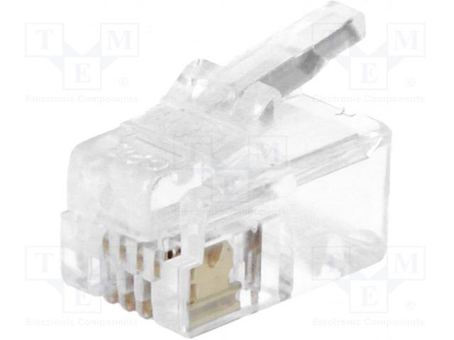MH CONNECTORS MHRJ114P4CR - Plug