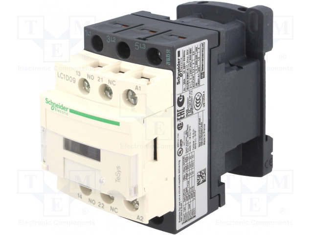 LC1D09P7 SCHNEIDER ELECTRIC - Contactor: 3-pole | NO x3