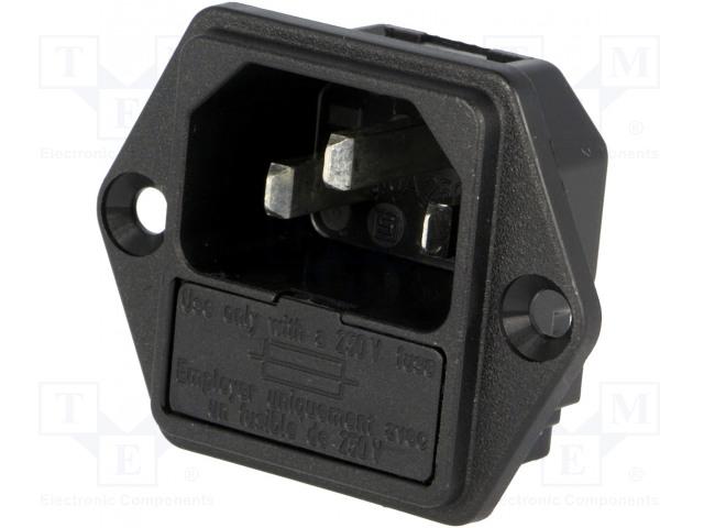 SCHURTER 6200.2300 - Konektor: napájecí AC