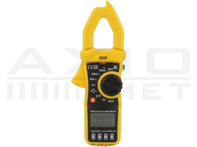 AX-215TIC AXIOMET, AC/DC digitales Zangenmessgerät