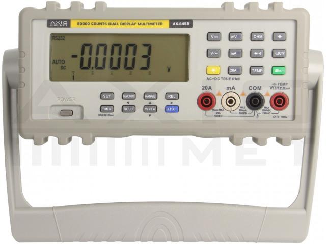 AX-8455 AXIOMET, Multimetro da tavolo