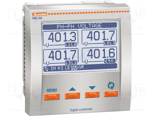 LOVATO ELECTRIC DMG 700 L01 - Panelový měřič výkonu