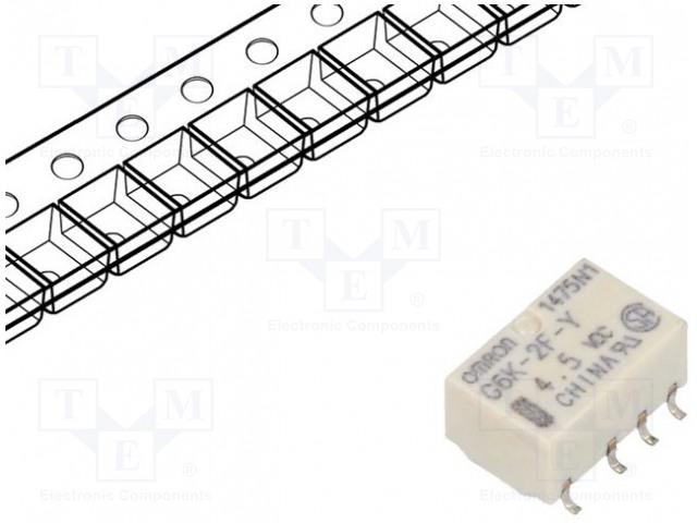 OMRON OCB G6K-2F-Y- 4.5VDC BULK - Relé: elektromagnetické
