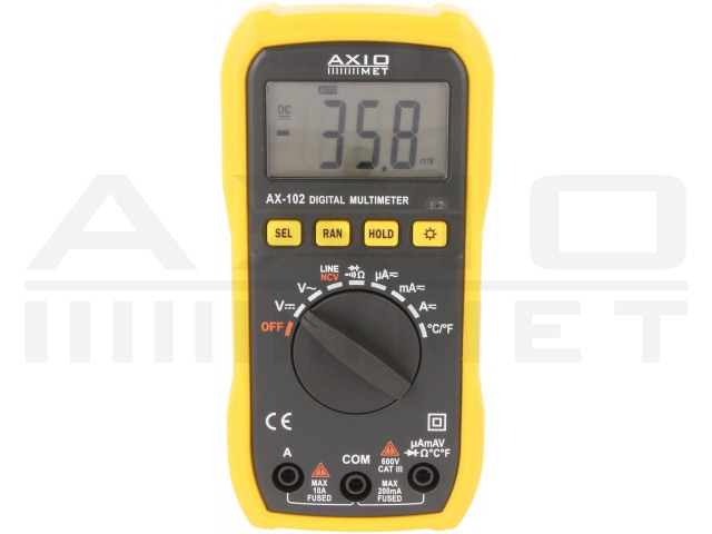 AX-102 AXIOMET, Digitale multimeter