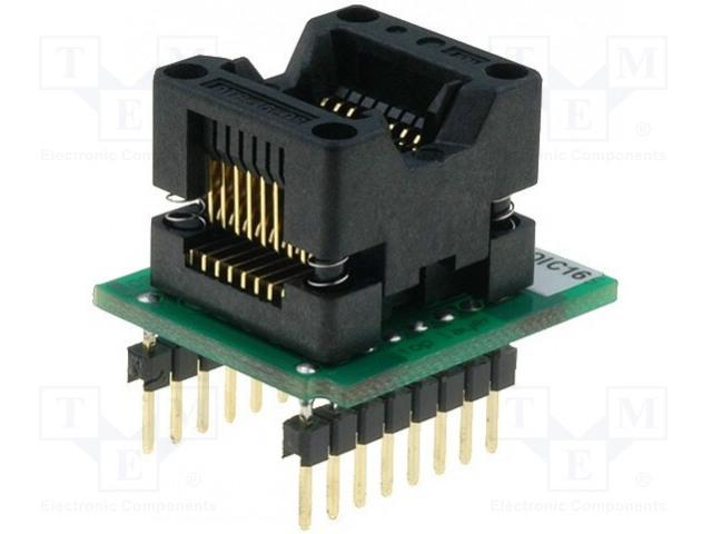 ELNEC DIL16W/SOIC16 ZIF 150MIL - Adaptér: DIL16-SO16